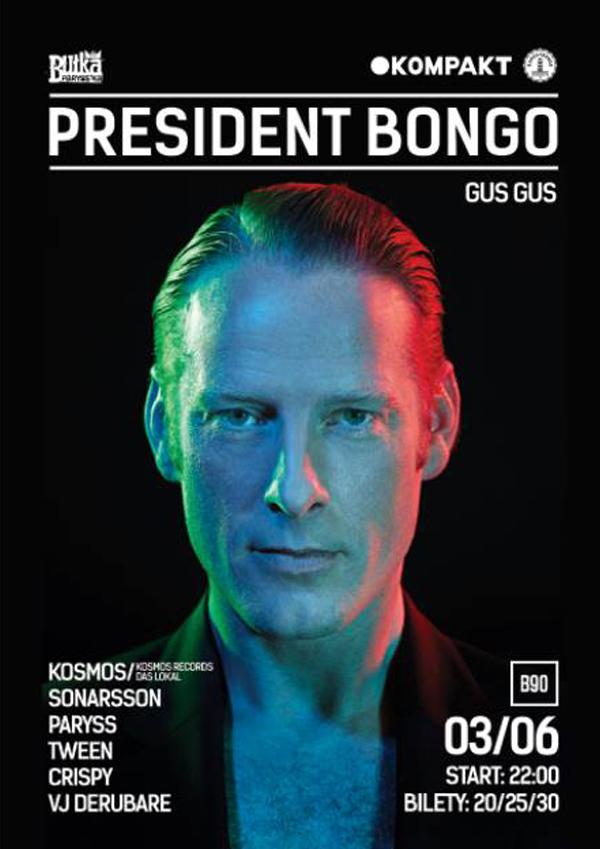 03.06.2015, GDAŃSK, KLUB B90, PRESIDENT BONGO (GUS GUS)